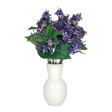 Artificial Lilac in Ceramic Vase