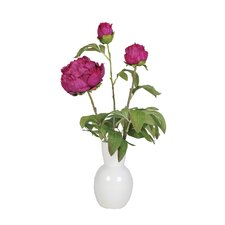 Artificial Peony in Ceramic Vase