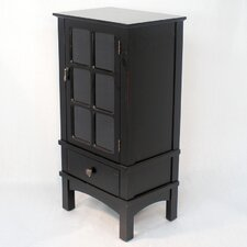 <strong>Heather Ann Creations</strong> Wooden Cabinet with Glass Insert