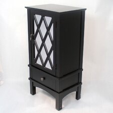 <strong>Heather Ann Creations</strong> Wooden Cabinet with Mirror Insert