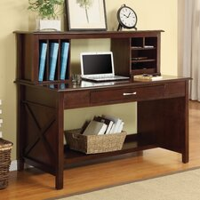 <strong>Inspired by Bassett</strong> Adeline Desk with Hutch with Lower Storage Shelf