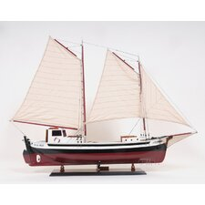 <strong>Old Modern Handicrafts</strong> La Gaspésienne Painted Model Boat
