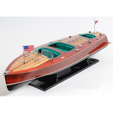 Chris Craft Triple Cockpit Painted Model Boat