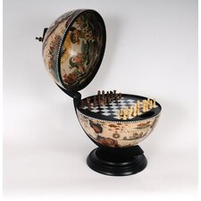 White Globe with Chess Holder