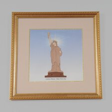 New York City Liberty Statue Framed Graphic Art