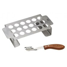 Stainless Chili Pepper Grill Rack and RW Corer Set