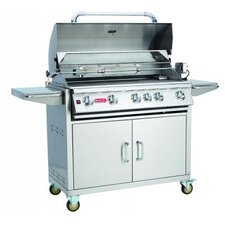 "<strong>Bull Outdoor Products</strong> 38"" Brahma Cart Gas Grill with Lights"