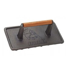 <strong>Bull Outdoor Products</strong> Cast Iron Rectangular Grill Press
