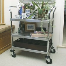 "38"" Stainless Steel Utility Cart"