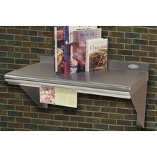 Stainless Steel Wall Mounted Shelf with Recipe Holder