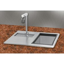 "21"" x 18"" Water Station Kitchen Sink with Ice Bin"