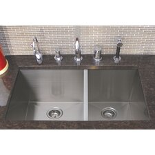 "Trend 32"" x 19"" Double Bowl Undermount Kitchen Sink"