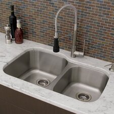 "31"" x 21"" Double Bowl Undermount Kitchen Sink"
