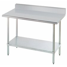 Chef's Prep Table with Stainless Steel Top