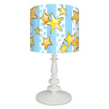 Dots and Stars with Prince Crown Table Lamp