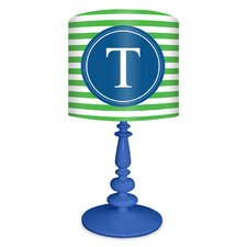 <strong>Oopsy Daisy</strong> Striped Monogram Table Lamp