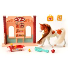Horse Play American Painted Horse Vet Station Set
