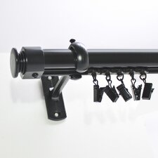 <strong>Beme International</strong> Aluminum Cap Curtain Rod and Hardware Set