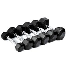 Rubber Hexagon Dumbell