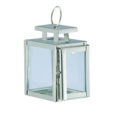 Stainless Steel and Glass Lantern