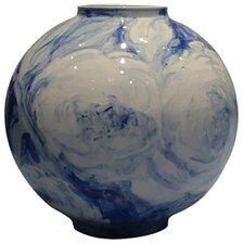 Handpainted Peony Orb Vase