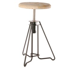 Iron and Rose Wood Piano Stool
