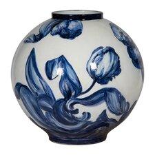 Ceramic Handpainted Peony Vase