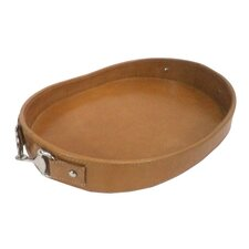 Equus Leather Oval Tray
