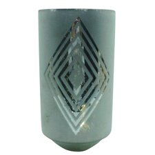 Extra Large Square Diamond Frost Hurricane/Vase