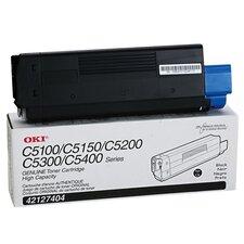42127404 OEM Toner Cartridge, 5000 Page Yield, Black