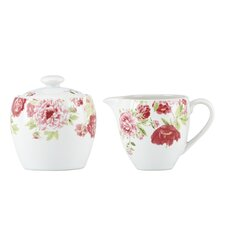 Blossoming Rose Sugar & Creamer Set