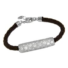 Ana Braided Brown Leather Bracelet