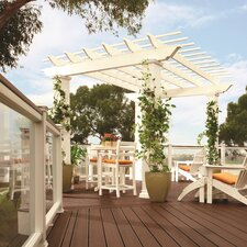 "Freestanding 9' 6"" H x 16' W x 16' D Pergola with High Square Columns"
