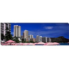 <strong>iCanvasArt</strong> Skyscrapers at the Waterfront, Honolulu, Oahu, Hawaii Canvas Wall Art