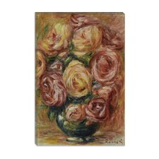"<strong>iCanvasArt</strong> ""Vase De Roses"" Canvas Wall Art by Pierre-Auguste Renoir"
