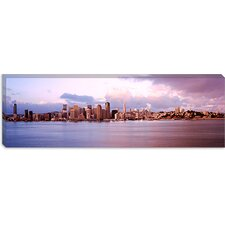 <strong>iCanvasArt</strong> San Francisco City Skyline at Sunrise Viewed from Treasure Island Side, San Francisco Bay, California Canvas Wall Art