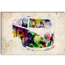 "<strong>iCanvasArt</strong> ""VW Camper Van (Urban)"" Canvas Wall Art by Michael Thompsett"