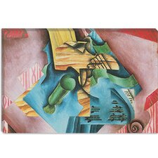 "<strong>iCanvasArt</strong> ""Violon et Verre (Violin and Glass)"" Canvas Wall Art by Juan Gris"