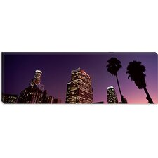 <strong>iCanvasArt</strong> Skyscrapers in a City, City of Los Angeles, California, 2010 Canvas Wall Art