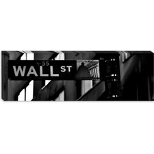 <strong>iCanvasArt</strong> Wall Street Sign (Panoramic) Canvas Wall Art
