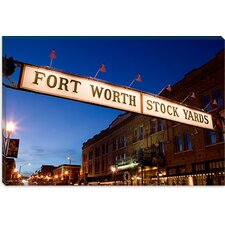 <strong>iCanvasArt</strong> Fort Worth Stockyards, Fort Worth, Texas Canvas Wall Art