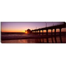<strong>iCanvasArt</strong> Manhattan Beach Pier, Manhattan Beach, Los Angeles County, California Canvas Wall Art