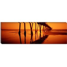 <strong>iCanvasArt</strong> Hermosa Beach Pier, Hermosa Beach, California Canvas Wall Art