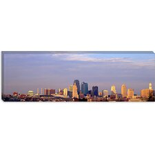 Skyscrapers in a City, Kansas City, Missouri Canvas Wall Art