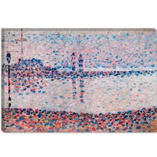 "<strong>iCanvasArt</strong> ""Study For The Channel At Gravelines"" Canvas Wall Art by Georges Seurat"
