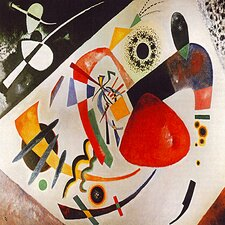 """""""Red Spot"""" Canvas Wall Art by Wassily Kandinsky Prints"""