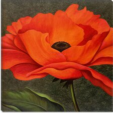 "<strong>iCanvasArt</strong> ""Red Poppy"" Canvas Wall Art by John Zaccheo"