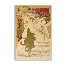 "<strong>iCanvasArt</strong> ""Salon Des Cent: 20th Exposition"" Vintage Poster by Alphonse Mucha"