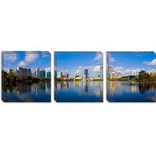 <strong>iCanvasArt</strong> Lake Eola, Orlando, Florida Canvas Wall Art