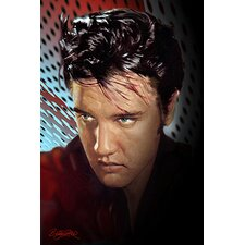 "<strong>iCanvasArt</strong> ""Reflecting Elvis Presley"" Canvas Wall Art by Betty Harper"